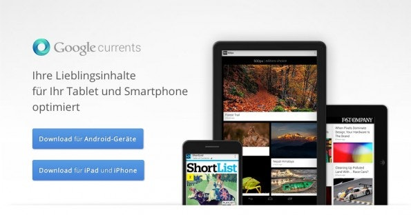 Das Pendant zu Flipboard: Google Currents. (Screenshot: google.com)