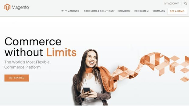 Magento stellt in Deutschland einen großen Anteil der existierenden Shop-Installationen, und ist als mächtige Lösung am besten auf leistungsfähigem Webspace beziehungsweise auf leistungsfähigen Servern aufgehoben. Magento ist eine Open-Source-Software mit Dual-License-Strategie, es existiert eine kommerzielle und eine freie Lizenz: Enterprise Edition und Community Edition.  (Screenshot: Magento)