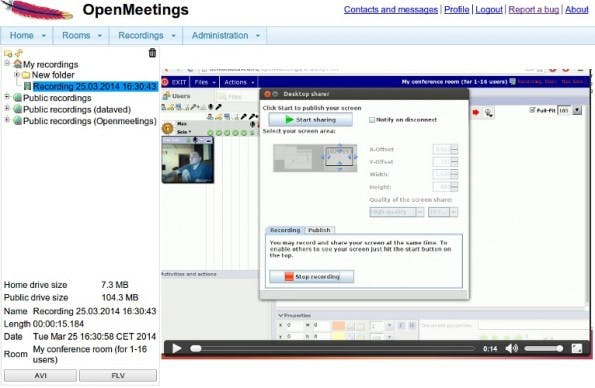 Das Open-Source-Projekt OpenMeetings. (Screenshot: openmeetings.apache.org)