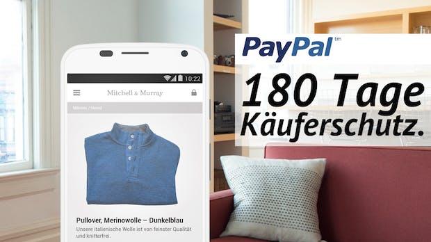 Mehr Sicherheit für Kunden: Paypal erhöht den Käuferschutz auf 180 Tage