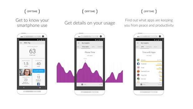 Produktivitäts-Apps für mobile Nutzer: Das Startup Offtime hilft, den Smartphone-Gebrauch zu steuern. (Screenshot: Offtime)