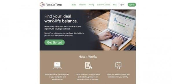 RescueTime zeigt euch, wie viel Zeit ihr mit welchen Seiten und Apps verbringt. (Screenshot: RescueTime)