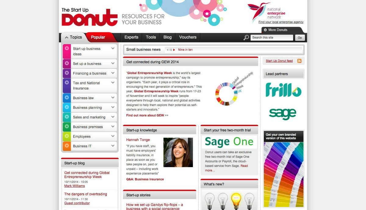 Startup Donut (Screenshot: t3n)
