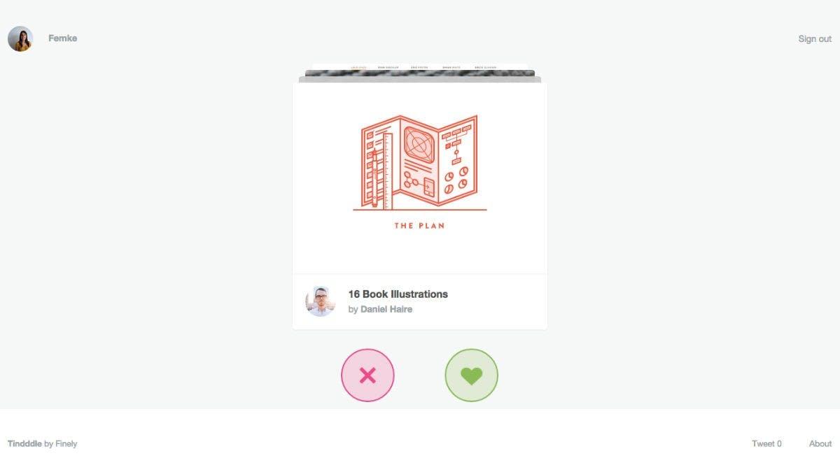 Tindddle: Dribbble-Designer entdecken nach dem Tinder-Prinzip