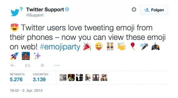 Als Twitter im April seine Web-Emojis einführte, war die Freude groß. (Screenshot: Twitter)