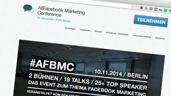"""Events sind eine von vielen """"alternativen Strategien"""". (Screenshot: allfacebook.de)"""