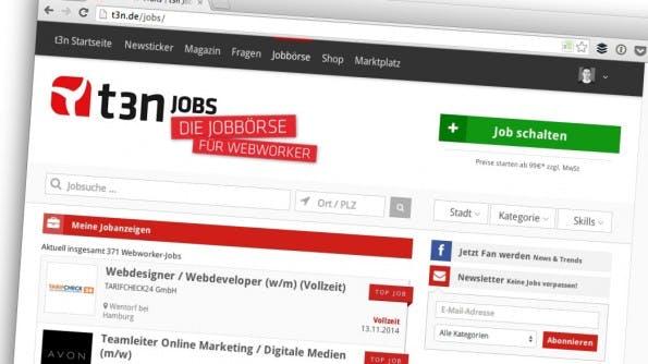 """Ein Beispiel für """"eigene Produkte"""". (Screenshot: t3n.de)"""