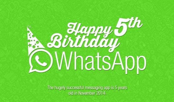 Fünf Jahre WhatsApp. (Infografik: DPFOC)