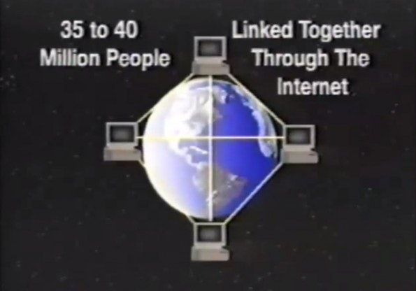 """Der """"Datenautobahn"""" auf der Spur: So charmant berichtete das Fernsehen der neunziger Jahre über das Internet. (Screenshot: YouTube)"""