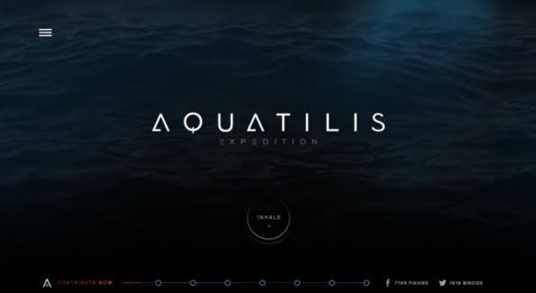 Die Aquatilis-Website – auf jeden Fall einen Besuch wert.