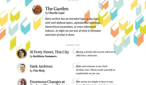 Contents Magazine spielt gekonnt mit dem Auf und Ab von Stilen. (Screenshot: Content Magazine)