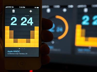 Countdown-Timer von Kerem Suer (Screenshot: Kerem Suer)