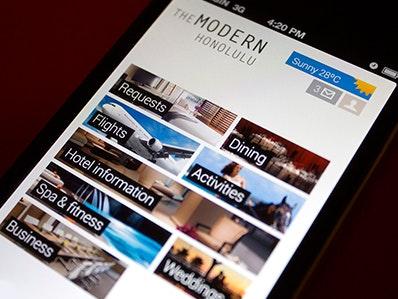 """""""Modern Honolulu""""-iPhone-Konzept von Miguel Olivia Márquez"""