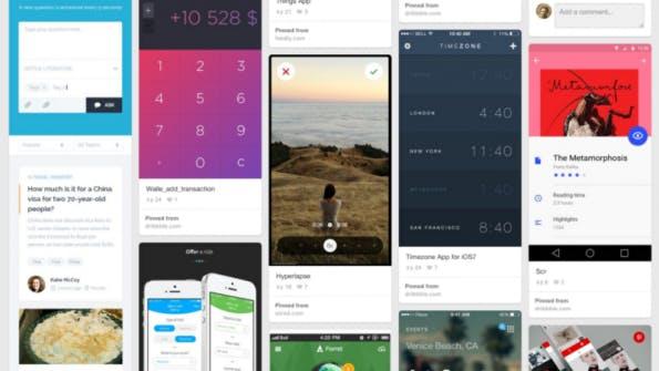 warmaracs inspirierende Phone-UI-Entwürfe auf Pinterst (Screenshot: Pinterest)