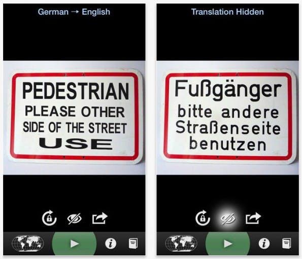 Word-Lens-Features werden in Google Translate integriert. (Screenshot: App Store)