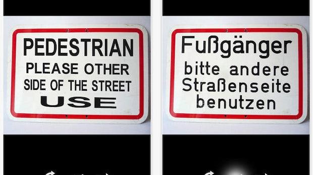 Google Translate: Neue Version übersetzt Schilder und dolmetscht live