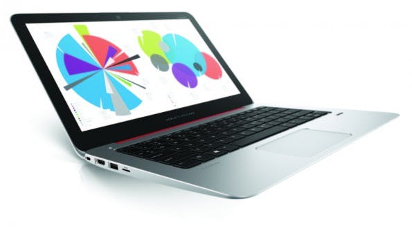 Schicke Alternative zum MacBook Air: HP stellt das EliteBook Folio 1020 vor. (Foto: HP)