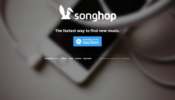 Das Tinder-Prinzip als Startup-Trend: Songhop. (Screenshot: t3n)