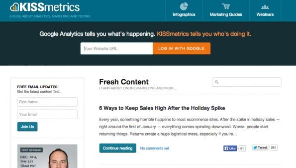 Corporate-Blogs, von denen wir noch lernen können: KISSmetrics.
