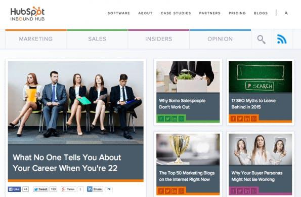 Corporate-Blogs, von denen wir noch lernen können: Hubspot.