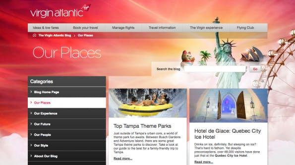 Corporate-Blogs, von denen wir noch lernen können: Virgin Airlines.