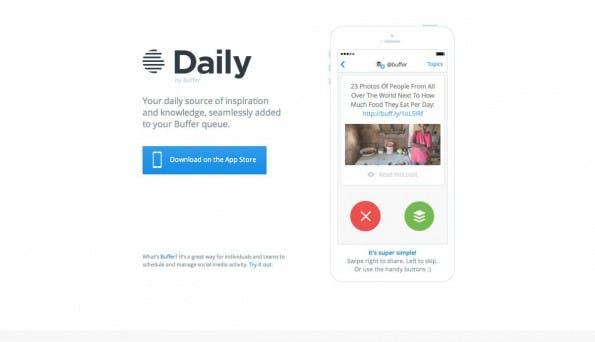 Das Tinder-Prinzip als Startup-Trend: Daily by Buffer. (Screenshot: t3n)
