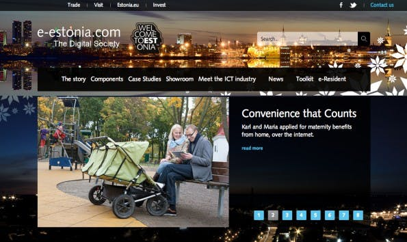 E-Estonia, die digitale Plattform für estnische Staatsbürger. (Screenshot: E-Estonia)