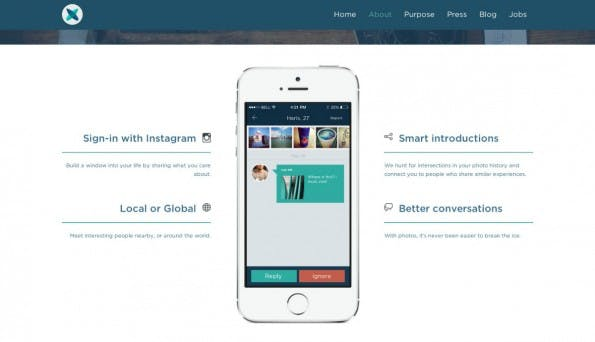 Das Tinder-Prinzip als Startup-Trend: Glimpse. (Screenshot: t3n)