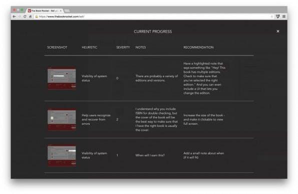 UX-Check: Alle vermerkten Usability-Probleme lassen sich bequem als Word-Dokument exportieren. (Screenshot: UX-Check)