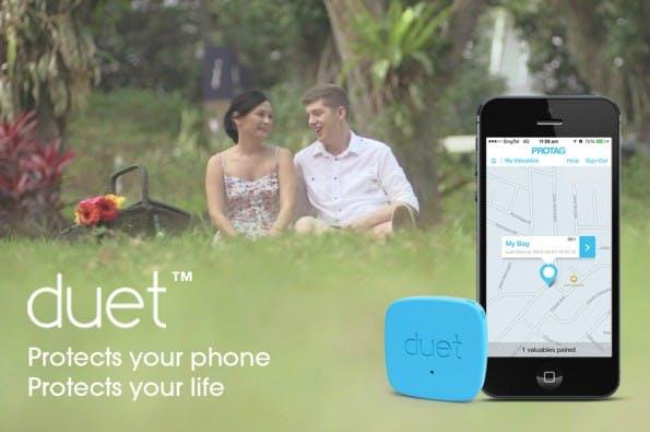 Duet erinnert den Nutzer an sein Smartphone, sollte er es vergessen haben. (Bild: Duet)