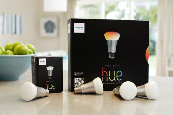 Eine der beliebtesten Kategorien im Bereich Internet der Dinge sind mit Sicherheit smarte Beleuchtungen wie das Hue-System von Philips. (Foto: Philips)