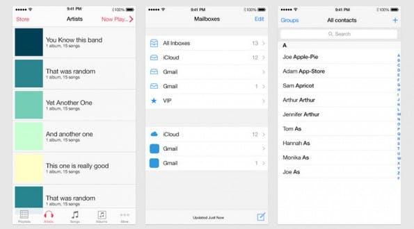 Kostenlose UI-Elemente für iOS-8-Apps: UXPin liefert euch Vorlagen in passenden größen für iPhone 5, 6 und 6 Plus. (Screenshot: UXPin)