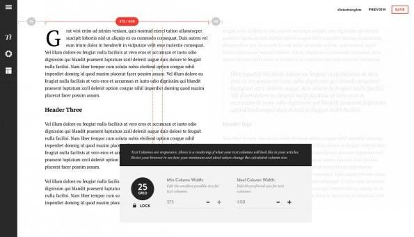 Storyform: Über den schicken Template-Editor könnt ihr das Layout eurer Artikel anpassen. (Screenshot: Storyform)