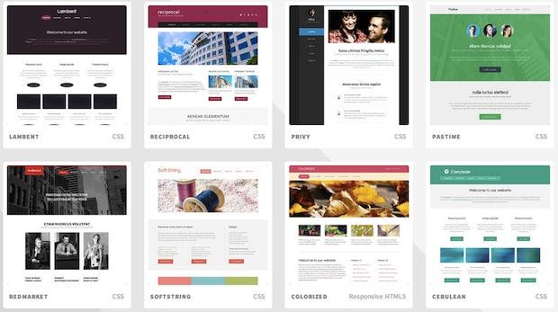 Templated: 844 kostenlose Website-Templates unter CC-Lizenz