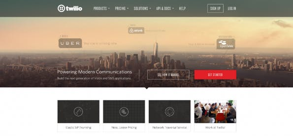 Uber, Airbnb und OpenTable nutzen Twilios Infrastruktur bereits. (Screenshot: Twilio)