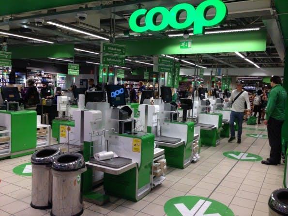 Supermarktkette Coop ist mit Selfservice-Kassen ausgestattet. (Foto: Jochen G. Fuchs)