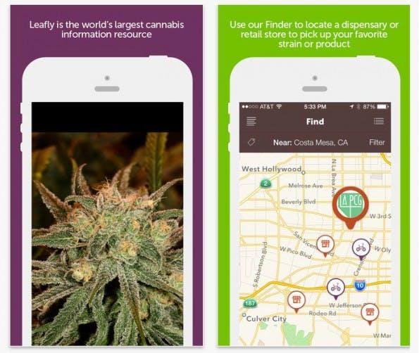 Leafly ist eines der ersten Cannabis-Startups (Screenshot: Leafly-App)