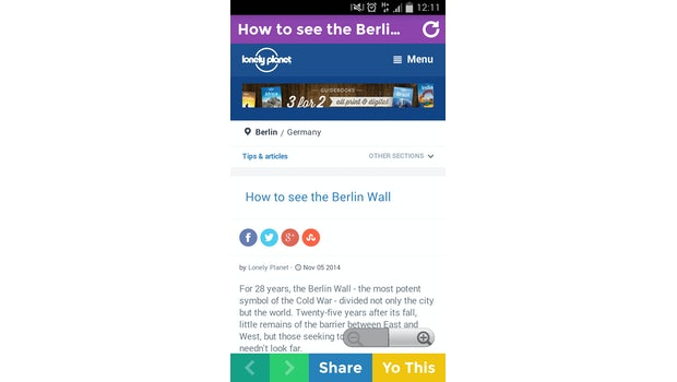LPLOCAL schickt konkrete Artikel – wenn vorhanden – zum eigenen Standort. (Screenshot: Andreas Weck)
