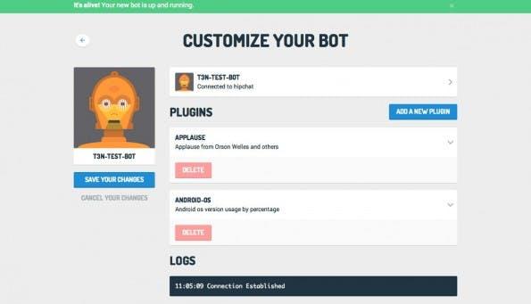 Mit ChatO.ps erspart ihr euch die Einrichtung von Hubot. (Screenshot: ChatO.ps)
