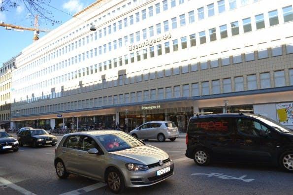 Klarna Headquarter in Stockholm: Haupteingang befindet sich unten links im Bild. (Foto: Jochen G. Fuchs)