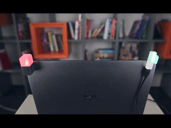 """Die USB-Lampe """"Luxafor"""" soll es sowohl in einer kabellosen als auch einer kabelgebundenenVariante geben. (Screenshot: kickstarter.com)"""