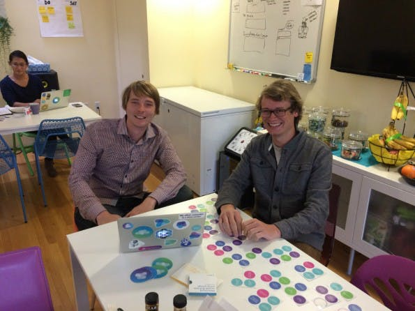 Mesosphere-Gründer Florian Leibert und Tobias Knaup (v.l.). (Foto: t3n)