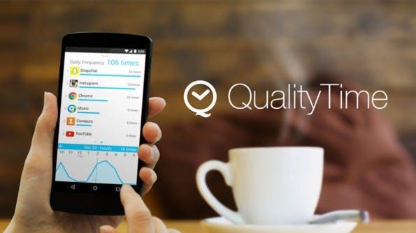 QualityTime wertet die Nutzungsdauer einzelner Apps aus. (Bild: QualityTime)
