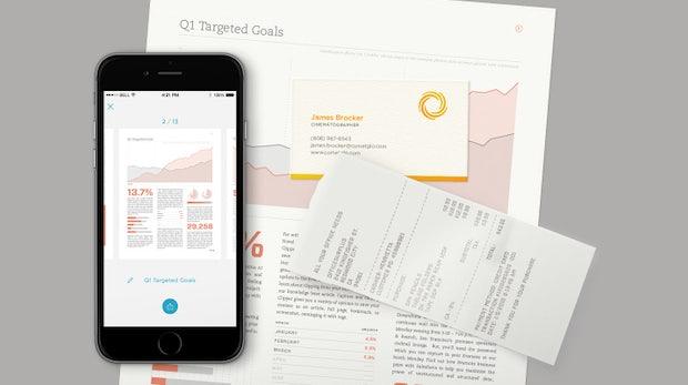"Papier adé: Produktivitätsdienst Evernote launcht App ""Scannable"""
