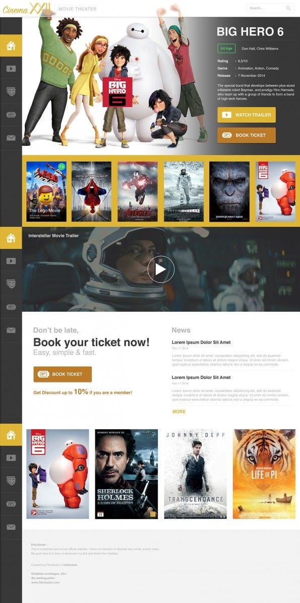 Cinema 22 - Free PSD Movie - Web-Templates