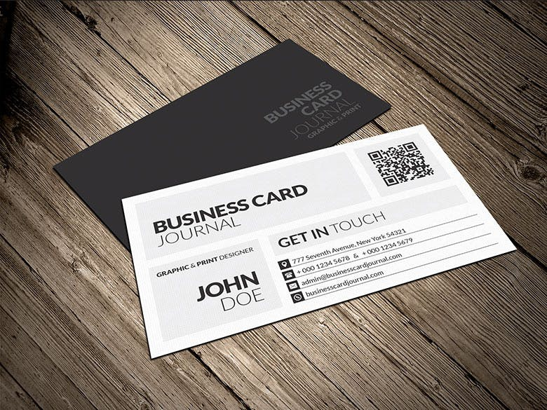 Business Card Sample | Creative Modern Metro Business Card Template 0009 Visitenkarten