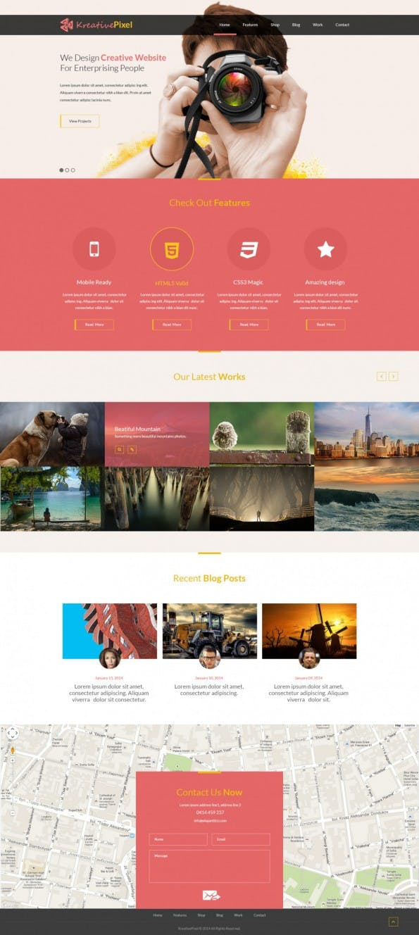 Creative Website Design Template PSD - Web-Templates
