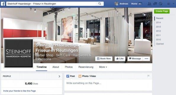 Das Friseurunternehmen hat 16 Mitarbeiter und 6.000 Fans auf Facebook. Ein erfolgreiches kleines Unternehmen. (Screenshot: Facebook)
