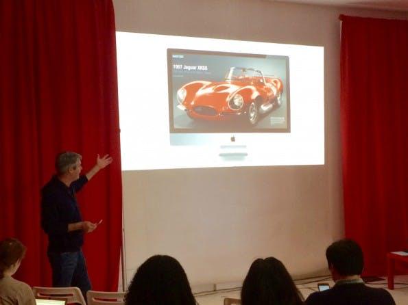 Flipboard-CEO Mike McCue stellt in Palo Alto die neue Web-Version seiner beliebten Nachrichten-App vor. (Foto: t3n)