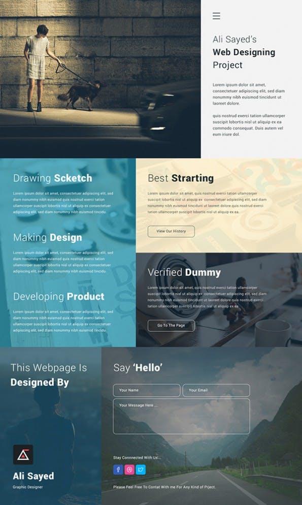 Free Creative Minimal Business Agency Webpage Design - Web-Templates
